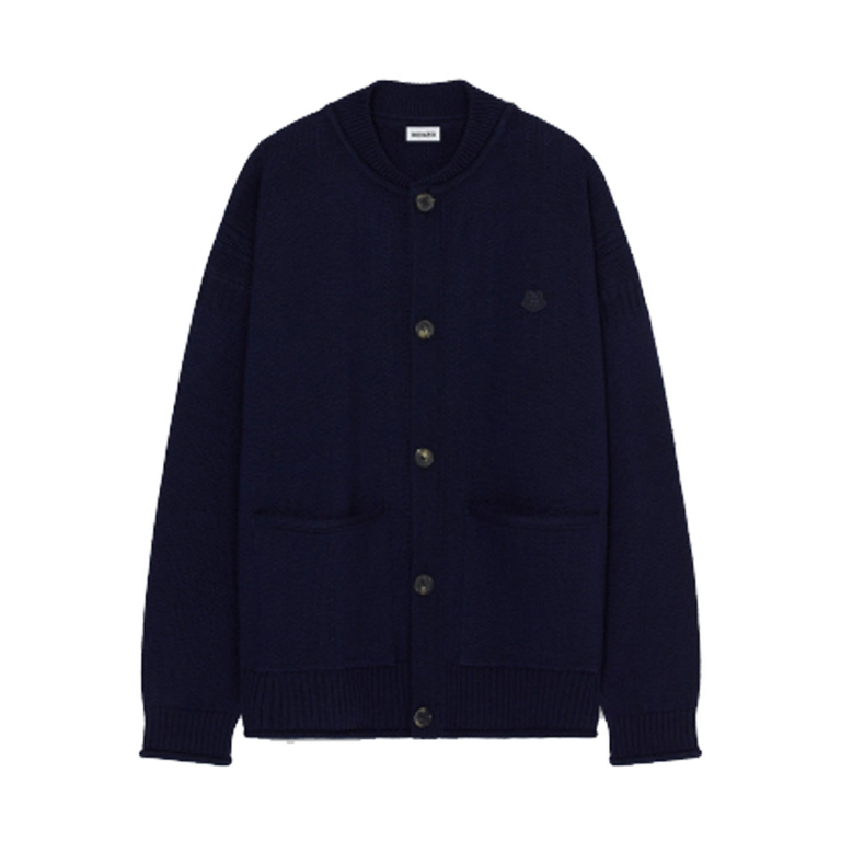 kenzo tiger crest buttonned cardgican navy.