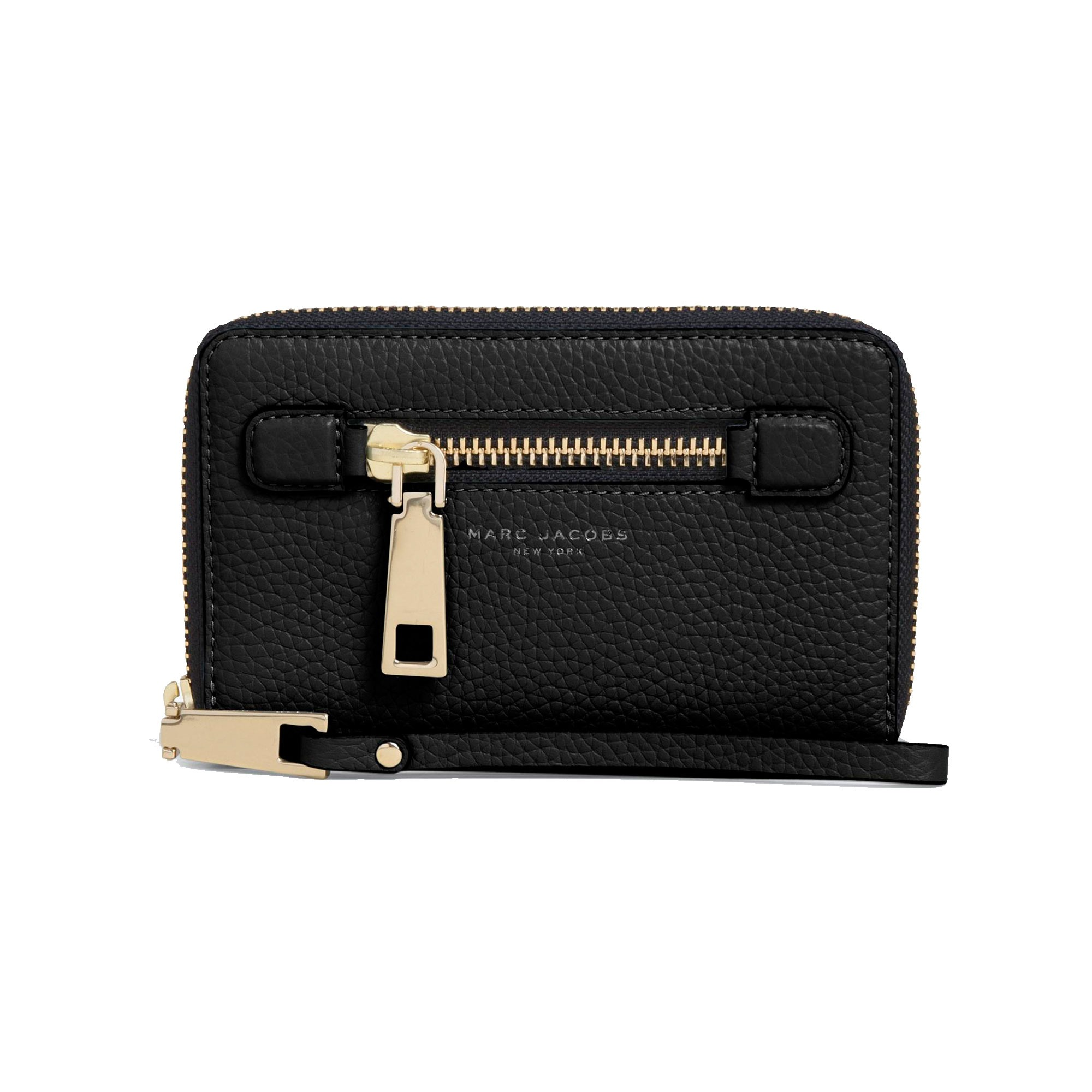 d8bfee06d58 Marc Jacobs - Gotham Zip Phone Wristlet, Black - Phigo Fine Luxury