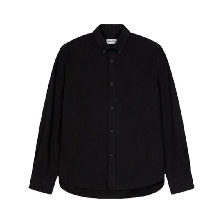 Kenzo sort skjorte tiger crest